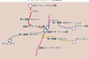 【インドネシア】首都南郊デポック市、モノレール4路線計画[運輸](2020/01/31)