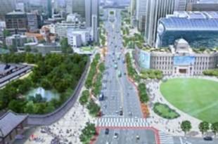 【韓国】ソウルの世宗大路、歩道拡大で緑豊かに[建設](2020/07/21)