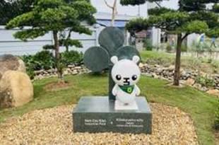 【ベトナム】北九州市のゆるキャラ像、ハイフォンに出現[建設](2020/12/07)