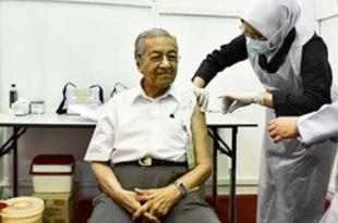 【マレーシア】〔雨季乾季〕マハティール氏がワクチン接種[社会](2021/03/09)