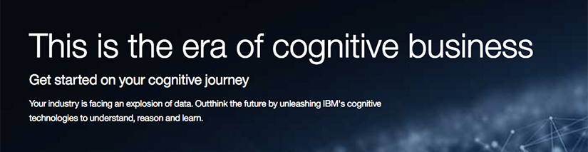 this is the era of cognitive business