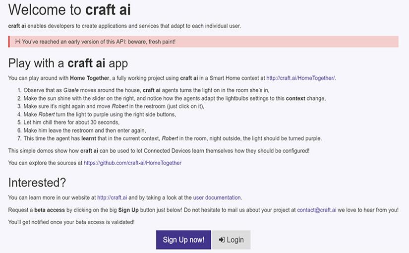 craft ai API
