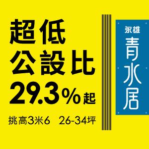 [三重]永雄青水居|29.3%起超低公設比,高坪效28坪3房,全新落成。