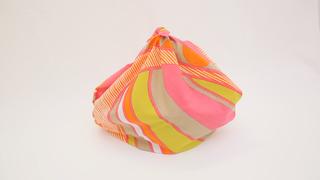 方便攜帶的風呂敷!「簡易提袋」的包法