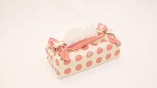 室內擺飾也能用風呂敷!「面紙盒包法」