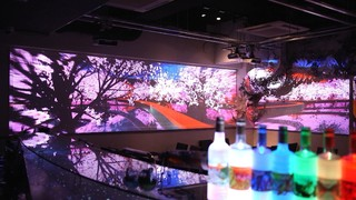 360°の桜マッピングを体験!六本木のダイニングバー「Barliminal」で一足早いお花見
