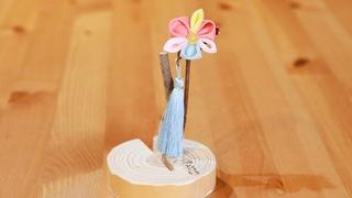 世界でたった1つ「京都 おはりばこ」でつまみ細工の花かんざし作り