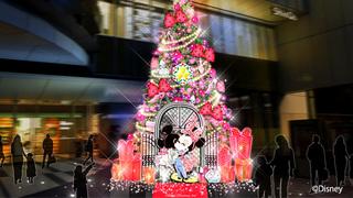 渋谷ヒカリエに「ミニーマウス」のツリーが登場!