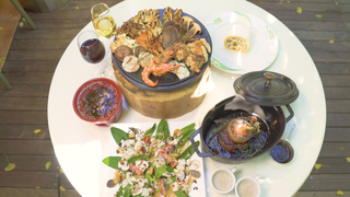 19種の茸づくし!「キハチ」の限定秋鍋を爽やかなテラスで