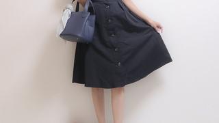 可愛さ神級【GU】フロントボタンフレアスカートを着まわし♡