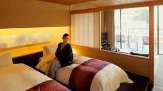 温泉露天風呂付きスウィートも!友禅や水引に彩られた「星野リゾート 界 加賀」の客室
