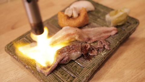 「炙り肉寿司盛り合わせ」