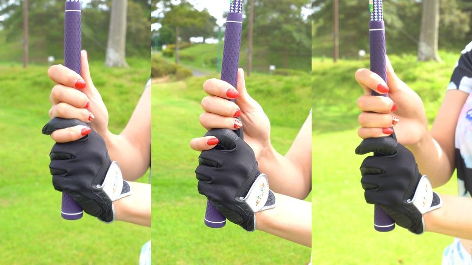 ゴルフクラブのグリップの握り方