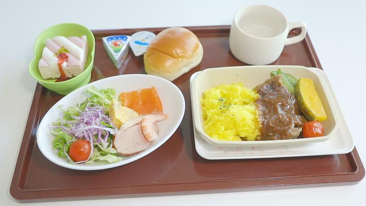 レジェンドオブコンコルドの機内食メニュー「ブレイズドビーフカルボナードソース」