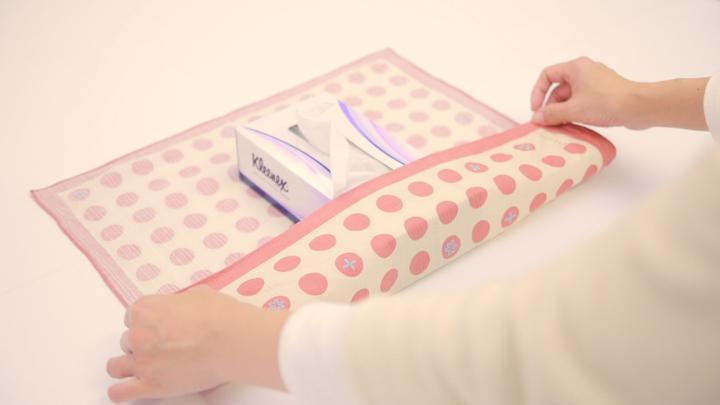 インテリアも風呂敷で!「ティッシュボックス包み」の包み方の2番目の画像