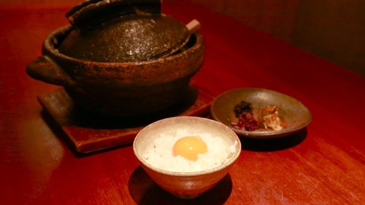 「粋魚 むらばやし」の卵かけご飯