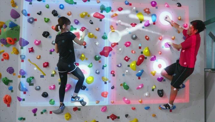 日本初!プロジェクションマッピングで楽しむボルダリング「コナミスポーツクラブ 川越」の2番目の画像