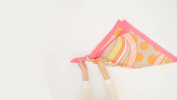方便攜帶的風呂敷!「簡易提袋」的包法の3番目の画像