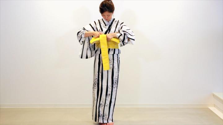 其實很簡單! 浴衣的腰帶綁法「文庫結」の11番目の画像