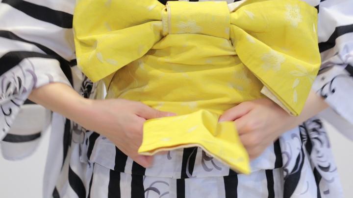 其實很簡單! 浴衣的腰帶綁法「文庫結」の14番目の画像