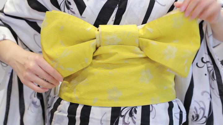 其實很簡單! 浴衣的腰帶綁法「文庫結」の16番目の画像
