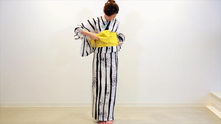 其實很簡單! 浴衣的腰帶綁法「文庫結」の17番目の画像