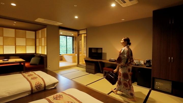 限定1間?!「星野渡假村 青森屋」附有半露天浴室的高級套房の1番目の画像