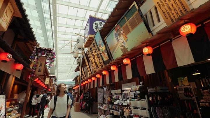 羽田空港国際線ターミナルの「江戸小路」
