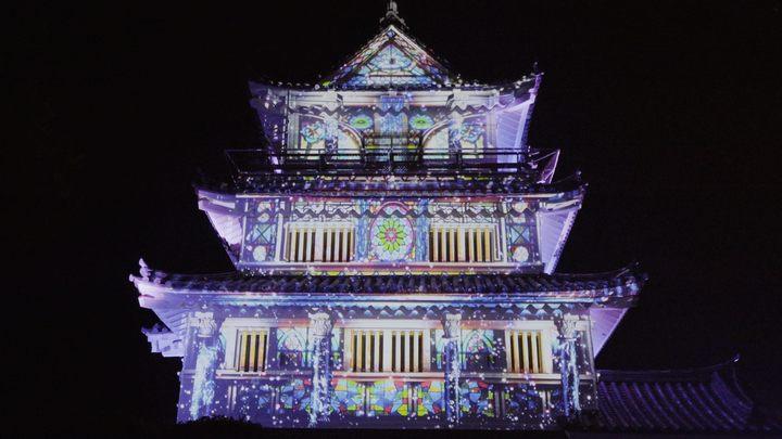 夜の「平戸城」