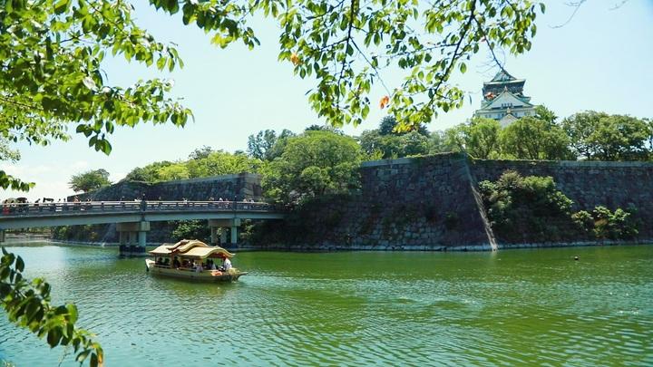 「大阪城御座船」の遊覧船