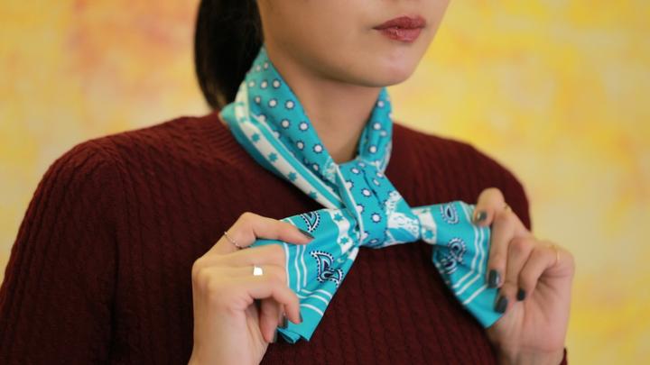 成熟風絲巾圍法Vol.1 高級穿搭術の9番目の画像