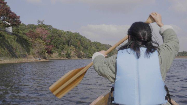 「ソグベルク」のカヌー体験