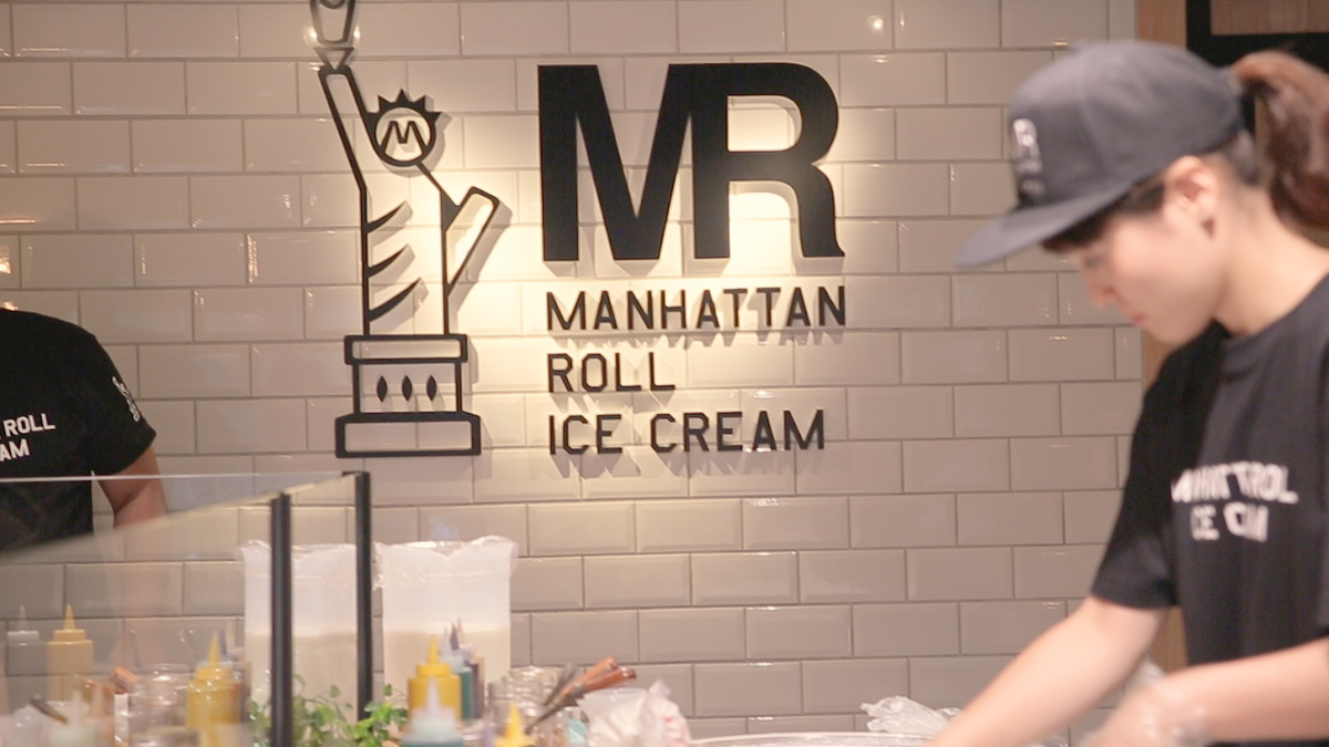MANHATTAN ROLL ICE CREAM