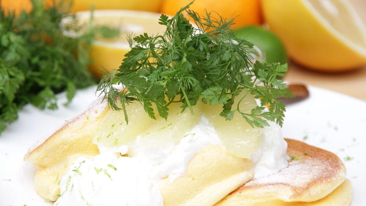 3種のシトラス ヨーグルトパンケーキ
