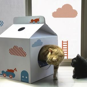 Milkbox貓屋+裝飾壁紙(躲貓貓)