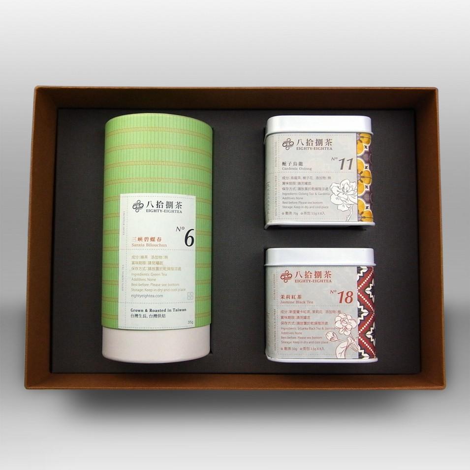 八拾捌茶 三重奏-三峽碧螺春+梔子烏龍+茉莉紅茶 | 美食 | Citiesocial