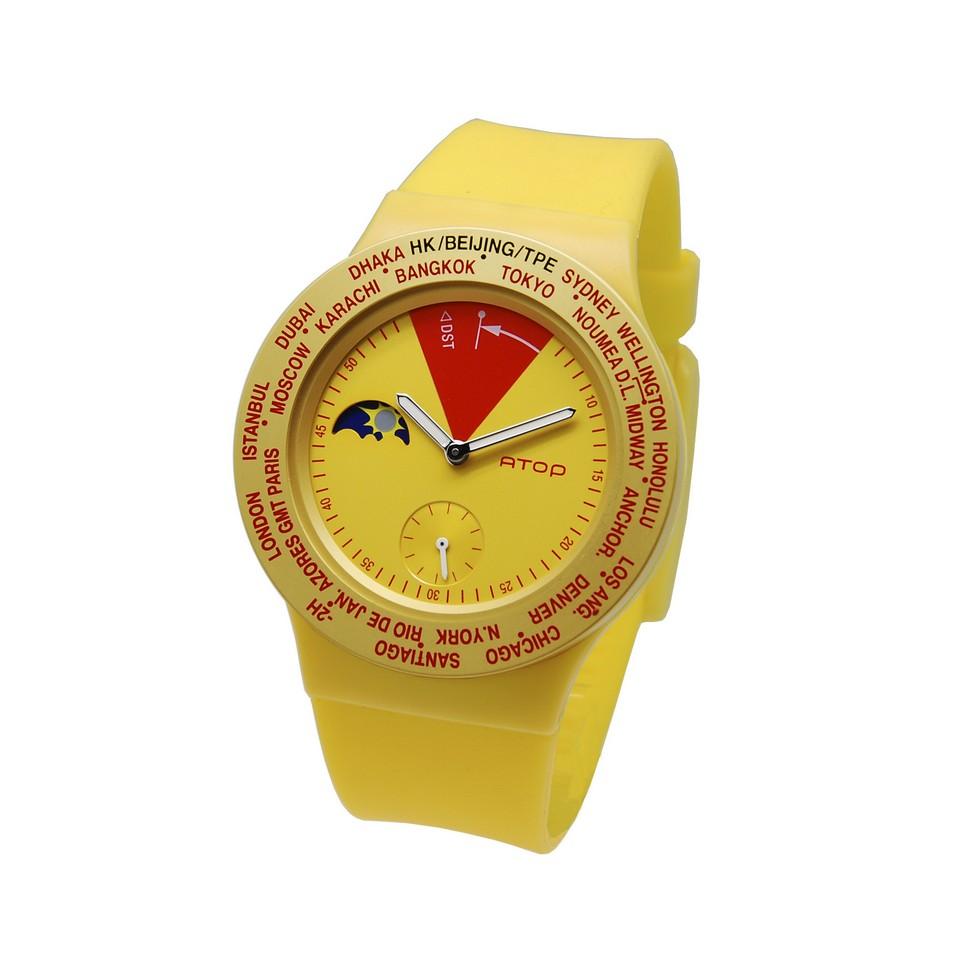 ATOP 世界時區鐘錶VWA 系列(黃紅) | 設計 | Citiesocial