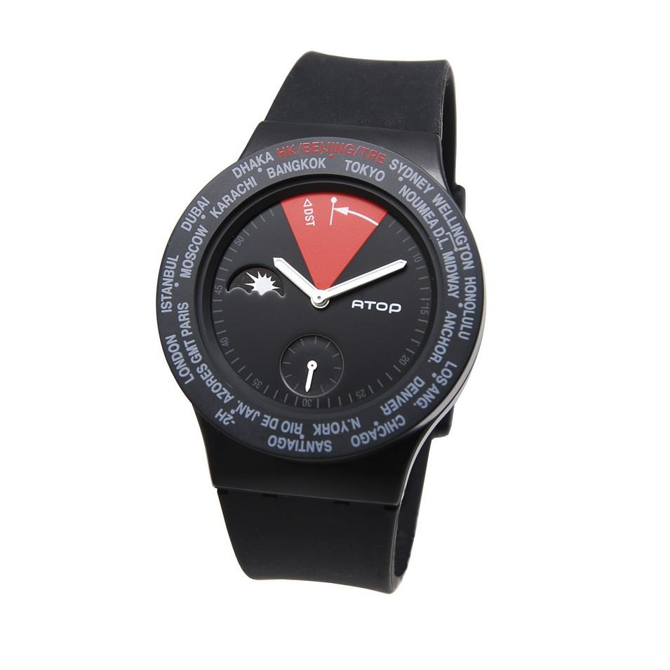 ATOP 世界時區鐘錶VWA 系列(黑紅) | 設計 | Citiesocial