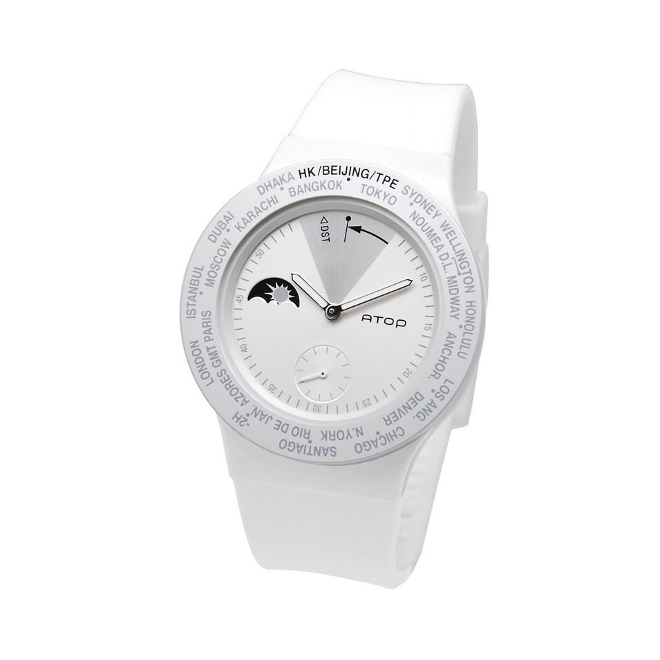 ATOP 世界時區鐘錶VWA 系列(白銀) | 設計 | Citiesocial