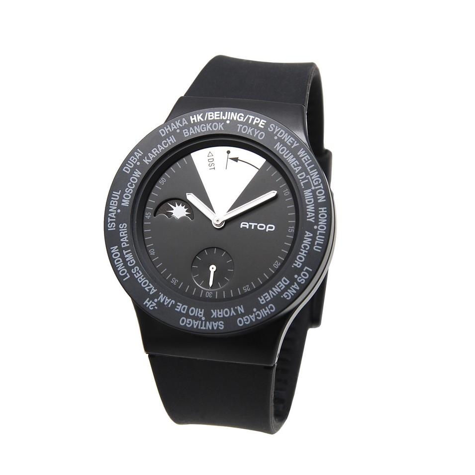 ATOP 世界時區鐘錶VWA 系列(黑銀) | 設計 | Citiesocial