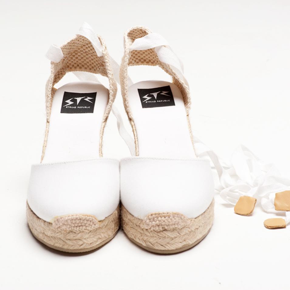 BSIDED 法國麻帆鞋 Aechibald Heel系列-white | 設計 | Citiesocial