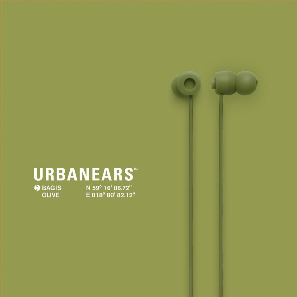 Urbanears 瑞典時尚耳機 Bagis炫彩耳道式耳機(橄欖綠) | 設計 | Citiesocial