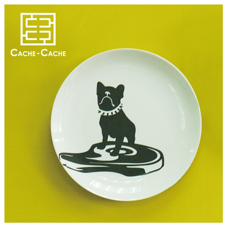 CACHE CACHE 法國鬥牛犬餐盤-貪吃鬼 | 設計 | Citiesocial