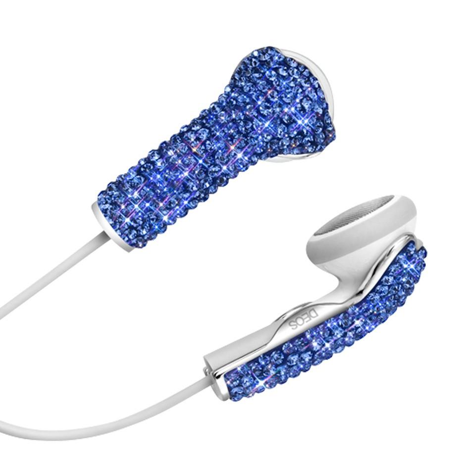 DEOS 美國耳機罩 施華洛世奇全彩鑽耳機罩 (藍) | 設計 | Citiesocial