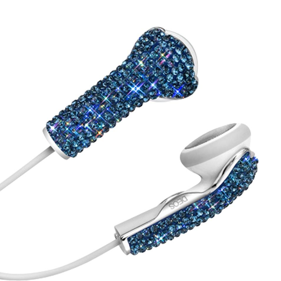 DEOS 美國耳機罩 施華洛世奇全彩鑽耳機罩 (寶藍) | 設計 | Citiesocial