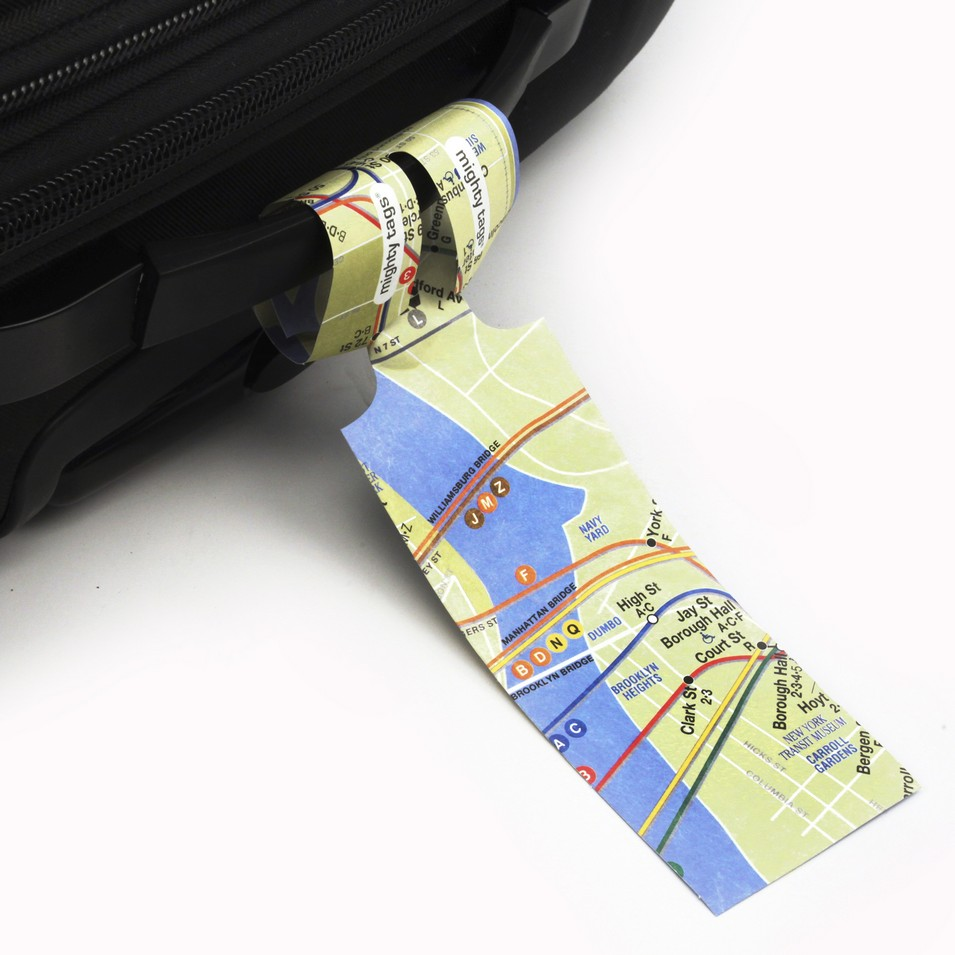 DYNOMIGHTY 紙行李吊牌-NYC Subway Map (4入) | 設計 | Citiesocial