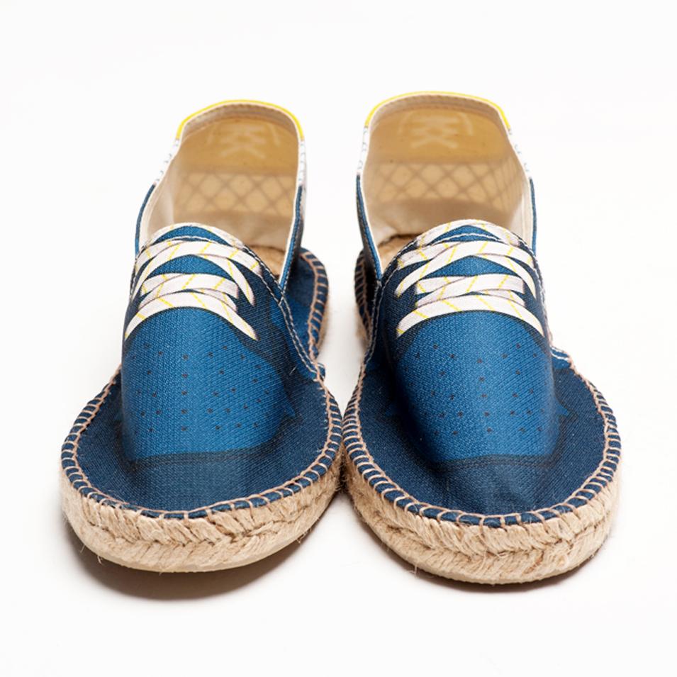 BSIDED 法國麻帆鞋 Flat Sole系列-slam blue grid | 設計 | Citiesocial