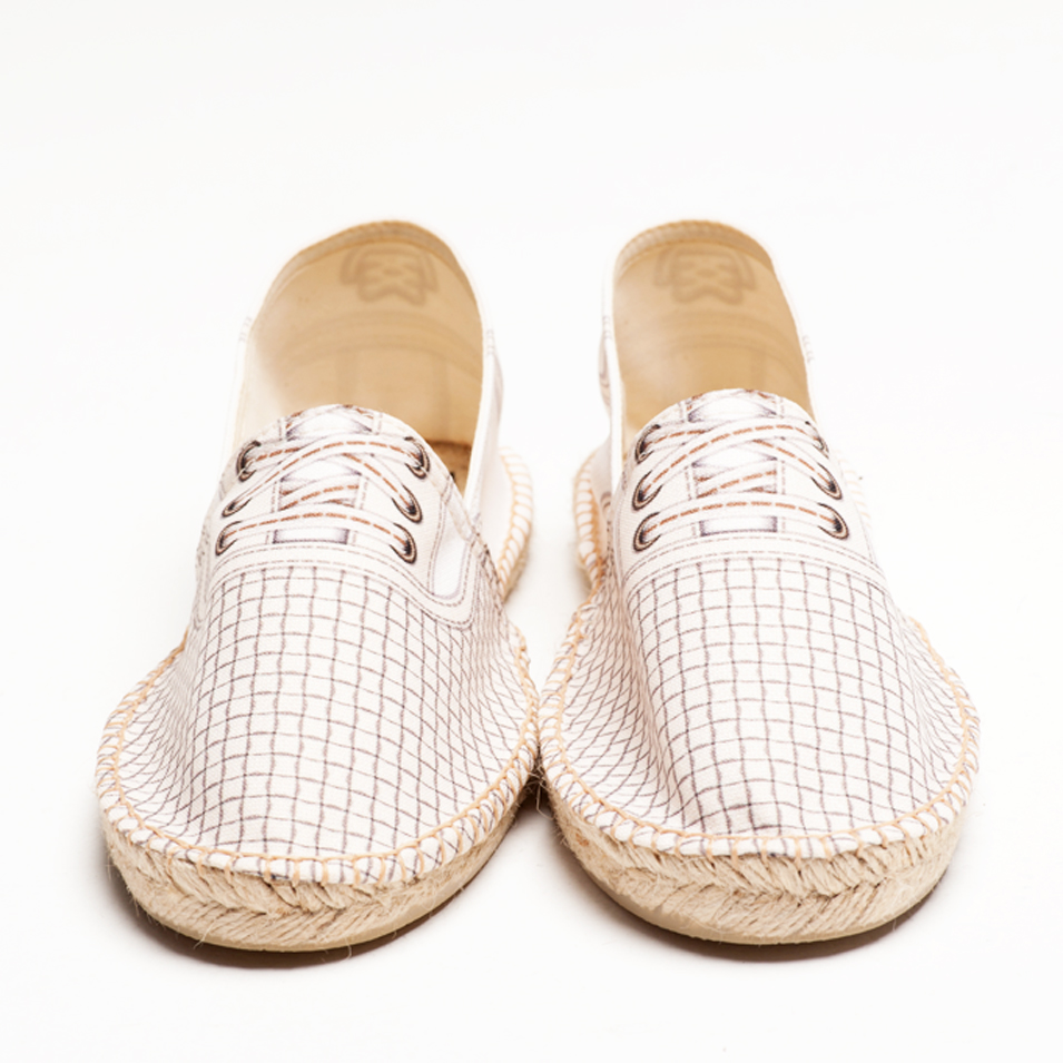 BSIDED 法國麻帆鞋 Flat Sole系列-BSD groover dot white | 設計 | Citiesocial