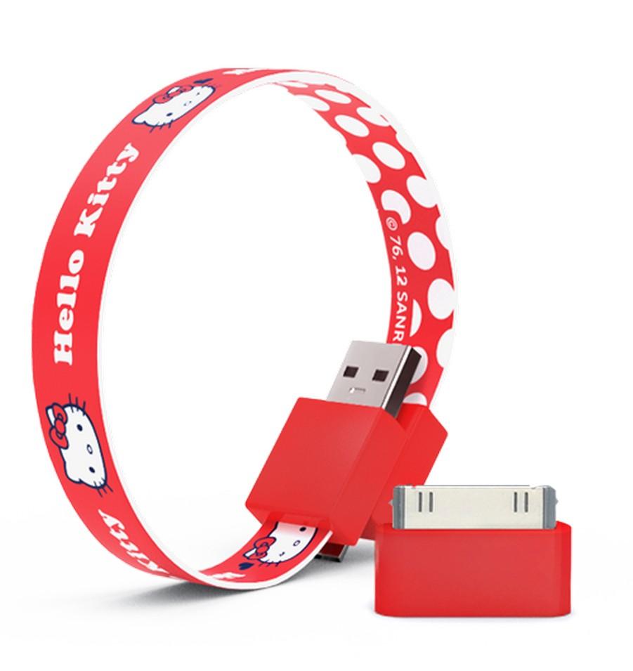 Mohzy 時尚3C設計 環型USB傳輸線-Kitty白色小圓點 | 設計 | Citiesocial