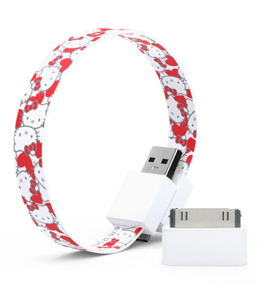 Mohzy 時尚3C設計 環型USB傳輸線-Kitty紅色不規則 | 設計 | Citiesocial